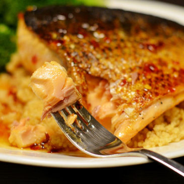 Pan-Seared Salmon with Sweet Chili Lemon Sauce