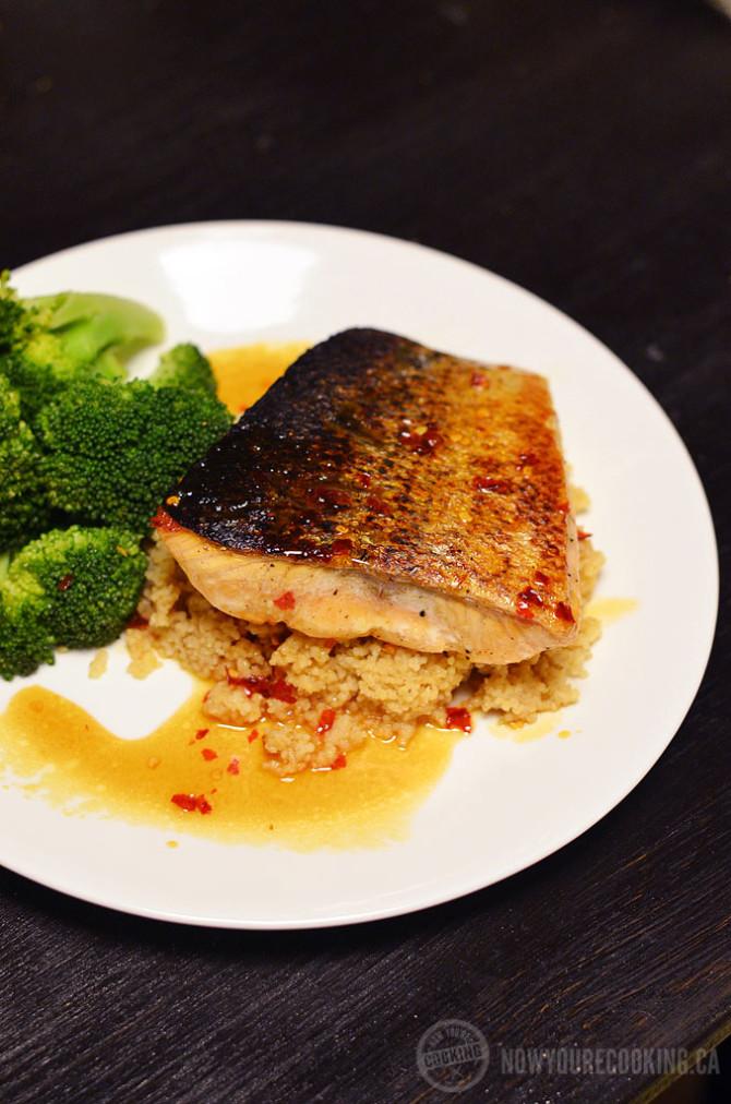 Pan-Seared Salmon with Sweet Chili Lemon Sauce