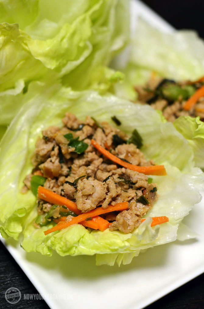 Now You're Cooking - Thai Chicken Lettuce Wraps