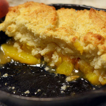 Skillet Peach Cobbler (for two)