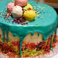 It's My Birthday! Coconut Lemon Drip Cake with a White Chocolate Ganache