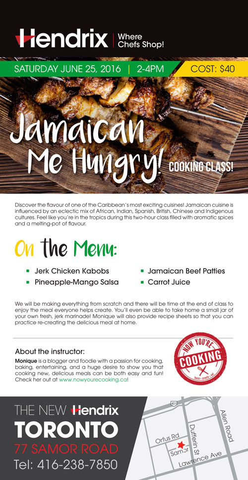 Jamaican Me Hungry - Cooking Workshop at Hendrix