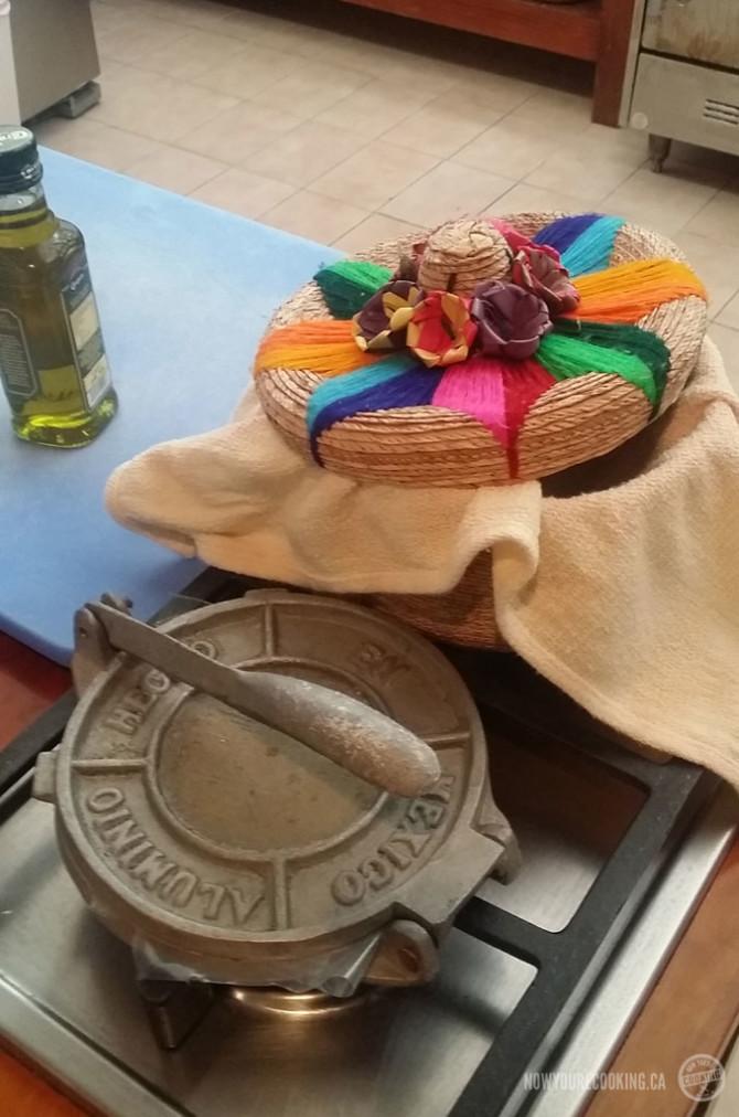 Tortilla press and holder