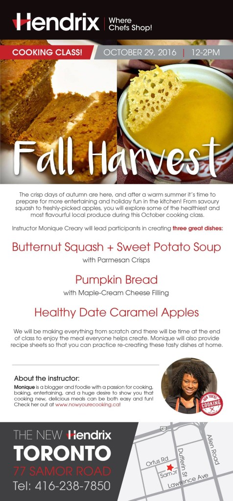 Now You're Cooking - Fall Harvest Cooking Class at Hendrix