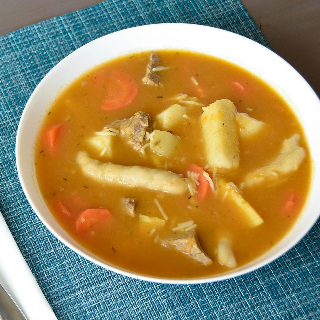 jamaican pumpkin beef soup now you're cooking